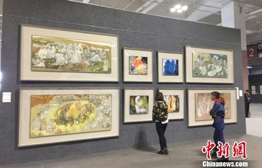 """中国国家画院院长笔墨下的""""西北民俗艺人""""(图)"""