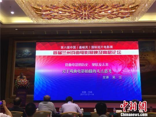 全国政协常委、原国家京剧院院长吴江以《关于戏曲电影拍摄的几点思考》为题,对戏曲电影的发展建言献策。 史静静 摄