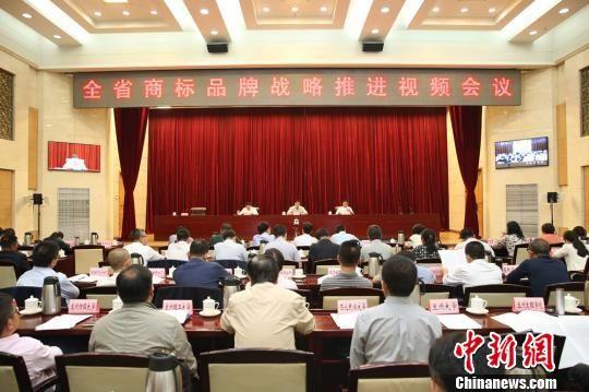 9月12日,甘肃省商标品牌战略推进会在兰州召开。 史静静 摄