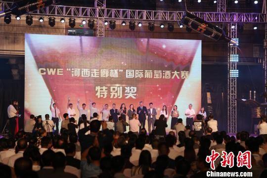 9月16日晚,中国・河西走廊第七届有机葡萄美酒节在中国历史文化名城、中国葡萄酒城――甘肃武威启幕。 崔琳 摄