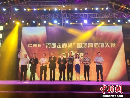 图为组委会为获奖的葡萄酒企业颁奖。 崔琳 摄