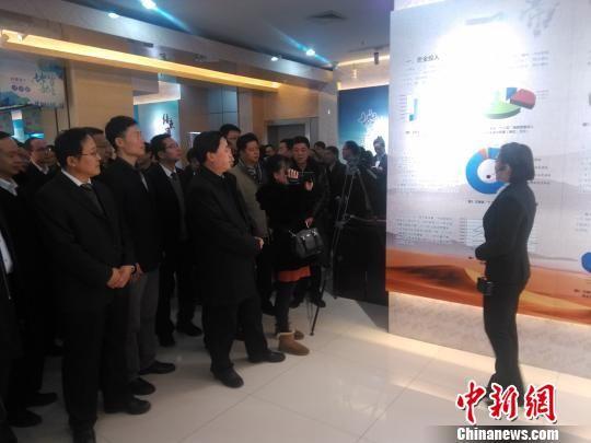 """1月11日,""""十二五""""甘肃省国土资源厅地质勘查成果交流会在兰州举行。 艾庆龙 摄"""