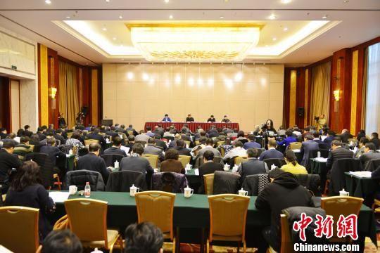 1月17日,2018年甘肃省卫生计生工作会议在兰州举行。图为会议现场。 南如卓玛 摄