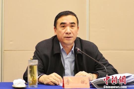 图为甘肃省副省长李斌出席会议并讲话。 南如卓玛 摄