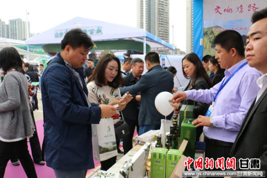 图为重庆民众现场了解平凉旅游产品。钟欣 摄