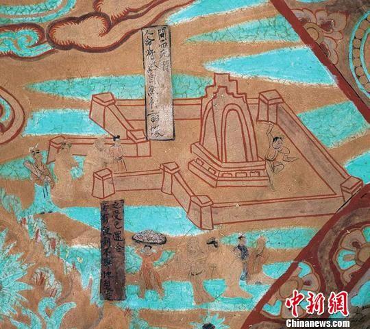 图为莫高窟第454窟―墓园(宋)。敦煌研究院供图