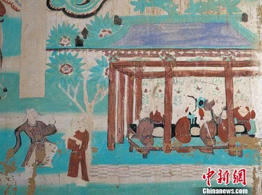 图为莫高窟第146窟―饮宴图(五代)。敦煌研究院供图