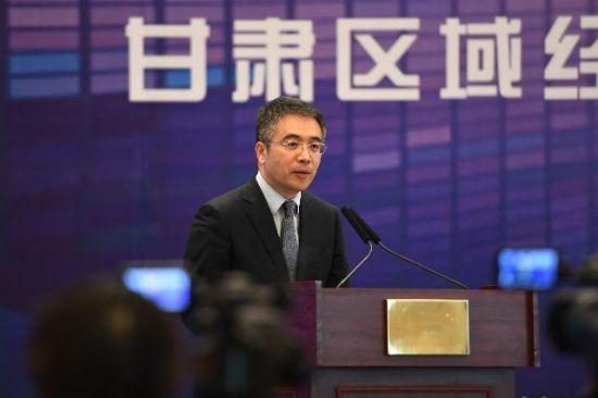 中国工商银行行长谷澍在开幕式上致辞。新华社记者 范培�| 摄