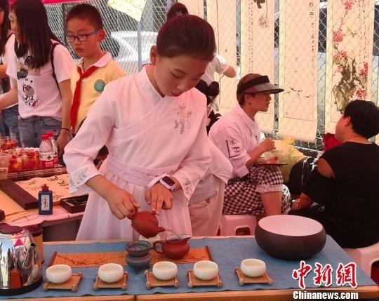 图为茶艺表演。 刘薛梅 摄
