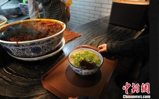 图为2018注册送白菜网站牛肉拉面。(资料图) 杨艳敏 摄