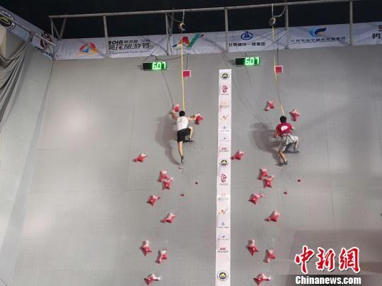 图为男子速度赛。 刘薛梅 摄