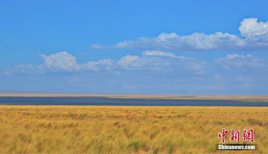 苏干湖位于阿尔金山南麓山脚下海子草原,是甘肃省最大的内陆湖泊。马汉 摄