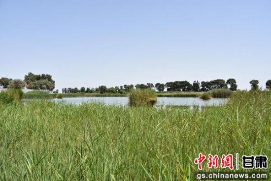 图为风景优美的双塔葫芦河。