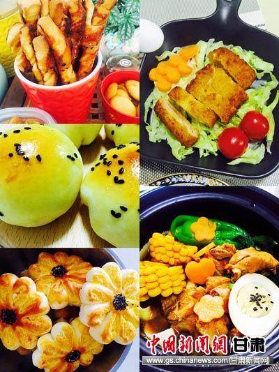 赵晓晖制作的营养餐。