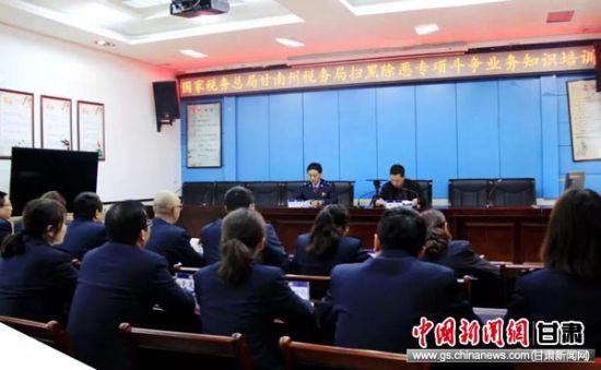 甘南州税务局举办扫黑除恶专项斗争知识培训。