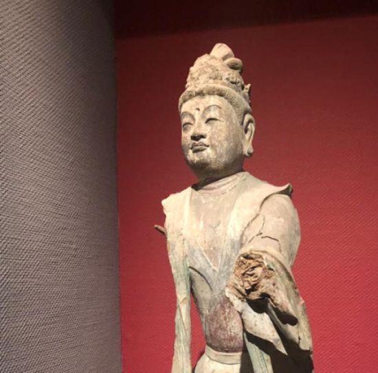 天梯山石窟唐代菩萨像。 甘肃省博物馆收藏