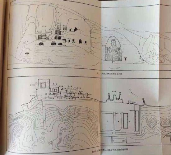 张学荣2000年主编出版的《武威天梯山石窟》一书中对石窟的图示。