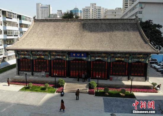 10月11日,甘肃清代贡院修缮完成开门迎客。