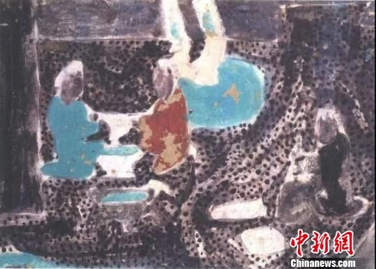 """图为敦煌莫高窟第23窟壁画中出现的""""制酪酥""""(盛唐)。敦煌研究院供图"""