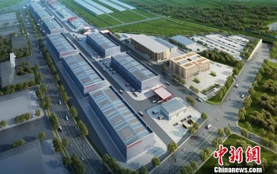 图为甘肃(兰州)国际陆港多式联运物流园效果图。(资料图) 钟欣 摄