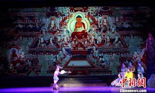 2018年10月,《丝路花雨》剧组赴澳大利亚演出。(资料图) 甘肃省歌舞剧院供图 摄
