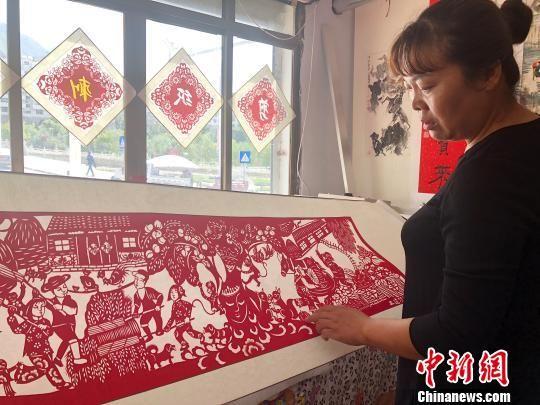 图为非物质文化遗产剪纸。(资料图) 徐雪 摄