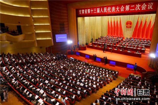 26日,甘肃省第十三届人民代表大会第二次会议在兰州召开。 高展 摄