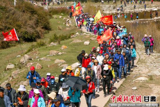 第二届全国徒步联动日(张掖山丹站)徒步活动开幕
