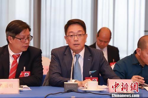 资料图:来自香港的培力控股有限公司主席陈宇龄。中新社记者 瞿宏伦 摄