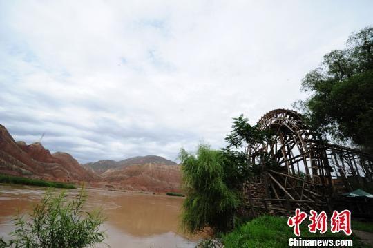 图为兰州黄河水车景观。(资料图) 杨艳敏 摄