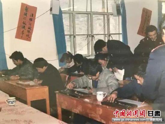 上世纪九十年代甘南税务部门举办春训会珠算竞赛。