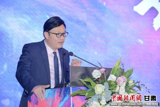联合国项目事务署中国首席代表罗响发表演讲。