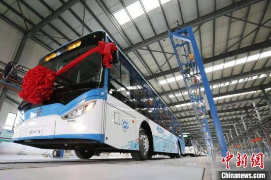 图为获得整车出口资质的兰州广通新能源汽车。(资料图) 丁凯 摄