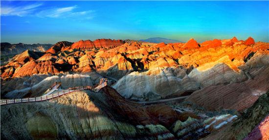 景区建设:张掖丹霞国家地质公园 摄影作者:李晓华
