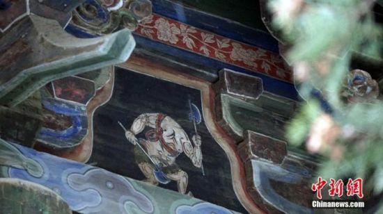 甘肃天水伏羲庙现《山海经》神兽图。魏建军 摄