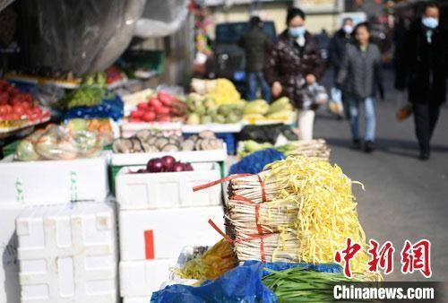 中新社(she)�者(zhe)1月29日拍(pai)�z的�Y料�D�U�m州市(shi)城�^(qu)的何家(jia)�f(zhuang)、五泉(quan)等多(duo)家(jia)菜市(shi)��(chang)正(zheng)常(chang)�I�I,���c上有多(duo)�N新�r蔬菜。 �钇G敏 �z