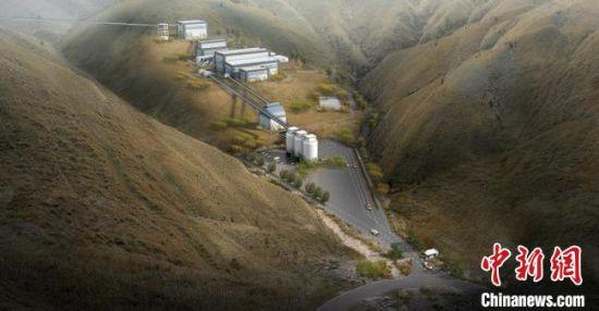 """图为榆中县日昌升""""年产500万吨新型环保优质骨料""""项目落成示意图。 榆中县委宣传部供图"""
