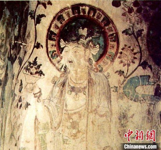图为昌马石窟壁画。(资料图)甘肃省文物局供图