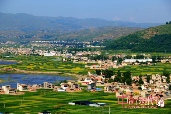 岷县乡村美景如画图