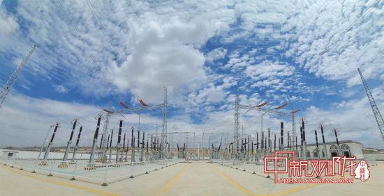 7月16日23点41分,银西铁路甘宁段首座牵引变电所顺利送电。中铁三局银西四电项供图