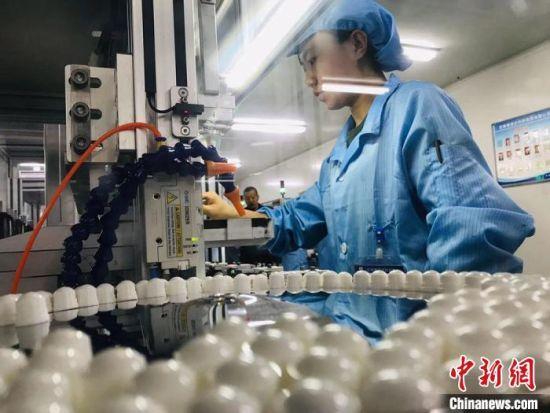 图为甘肃白银市一家制作隐形眼镜的中小企业。(资料图) 艾庆龙 摄