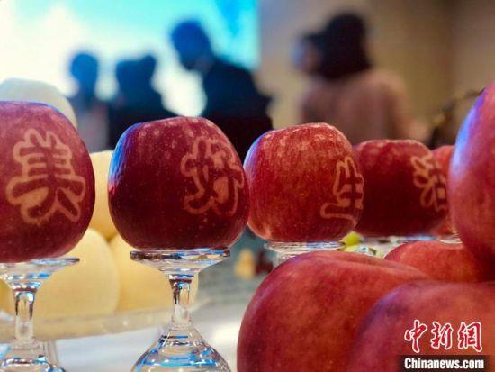 图为平凉市灵台县所产苹果。 艾庆龙 摄
