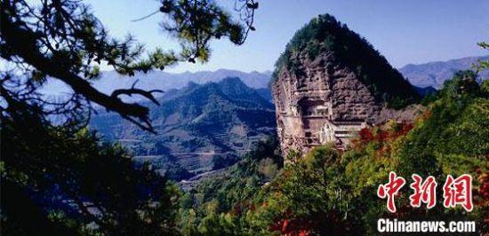 图为世界文化遗产麦积山石窟。(资料图)甘肃省文物局供图