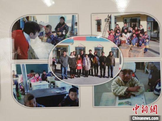 图为闫桂珍成立基金会,帮助贫困学子的影像集。 闫姣 摄