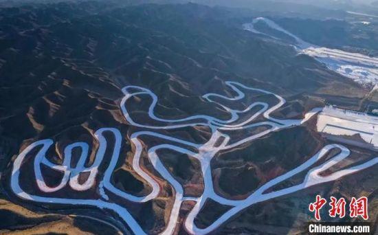 图为越野滑雪比赛赛道。 白银市委宣传部供图