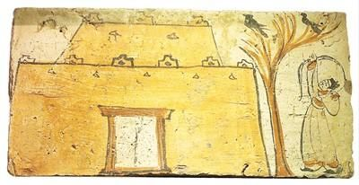 魏晋坞堡射鸟画像砖。杜建坡摄