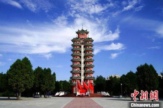 图为会宁红军会师纪念塔。(资料图) 甘肃省文物局供图