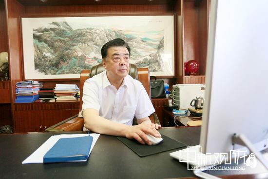 甘肃省商业科技研究所有限公司董事长杜建泉。高展 摄