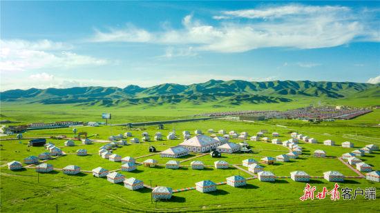 尕秀村帐篷城。新甘肃・甘肃日报记者 韦德占