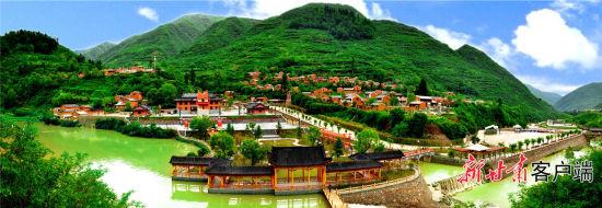 俯瞰宕昌县城关镇鹿仁村。陇南市委宣传部供图